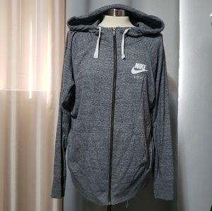 Nike women zip up hoodie.